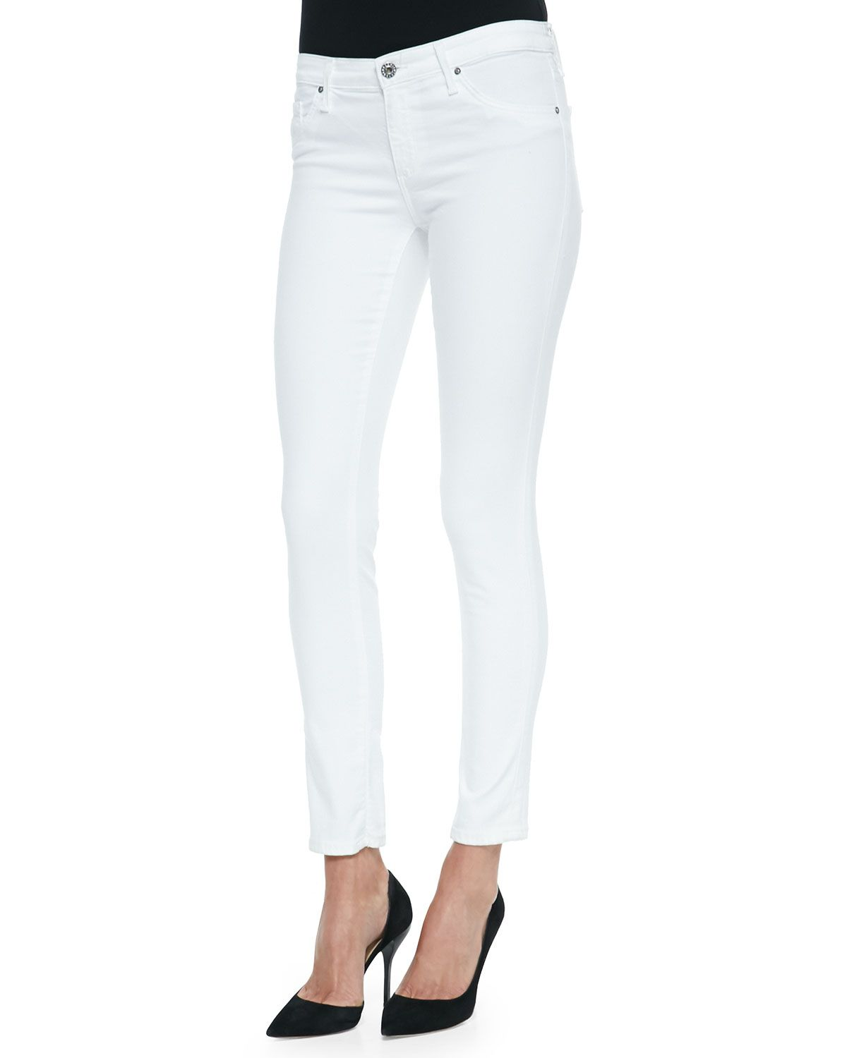 f4acec25af Legging Ankle Skinny, White, Women's, Size: 32 - AG. Find this Pin and more  on *Clothing > Pants* by Neiman Marcus.