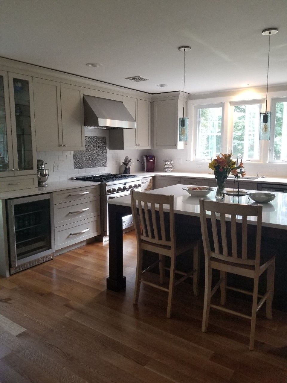 Best Our Remodeled Kitchen Light Gray Cabinets Stainless 640 x 480