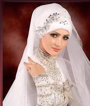 Hijab Bridal Veil Style