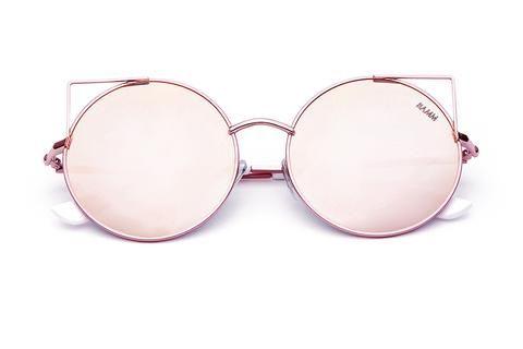 7999d7a82 THE KAT REVO | Óculos de sol redondo olho de gato com lentes espelhadas e…