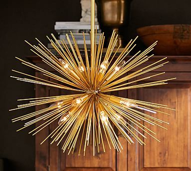 explosion chandelier small pottery barn