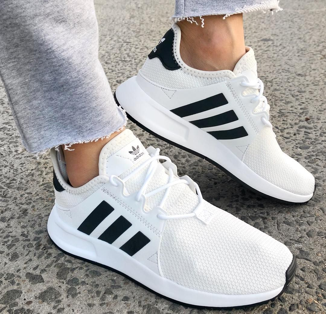 Front View Adidas Womens X plr Sneaker in Black White White