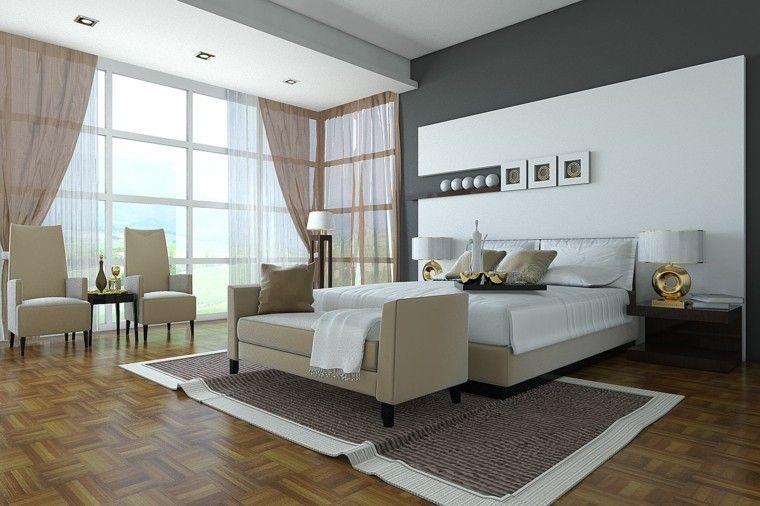 Revestimiento de paredes de dormitorios 50 ideas Revestimiento