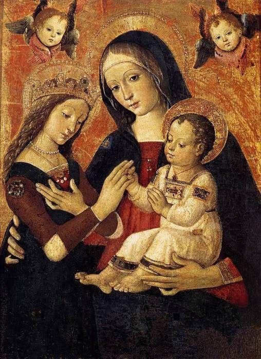 Pinturicchio (1452 ca.-1513) - Matrimonio mistico di Santa Caterina - Pinacoteca vaticana, Città del Vaticano