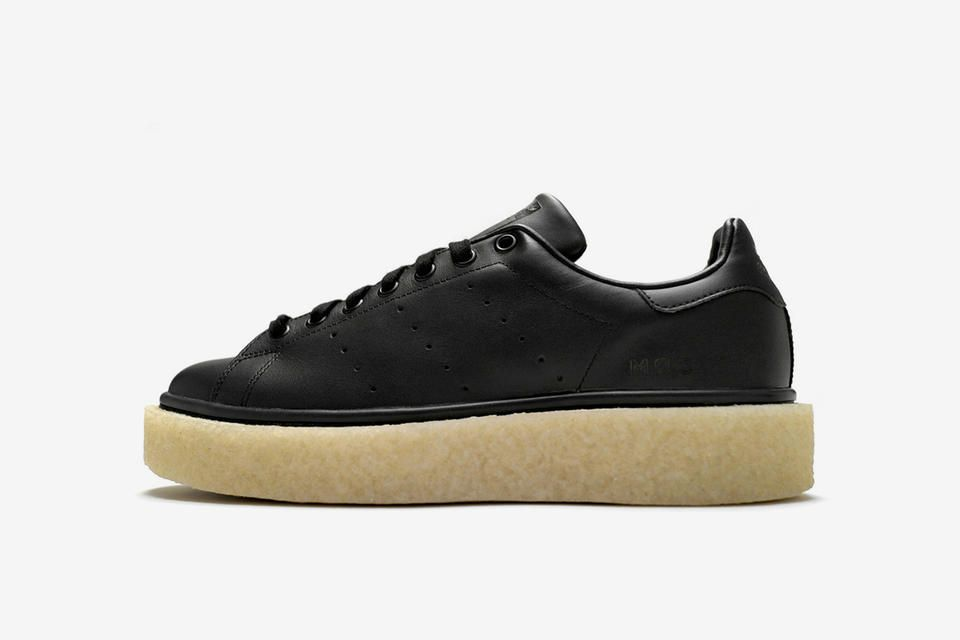 Custom low and top sneaker with Stan Smith upper and low crepe sole. Logos c5f2ac