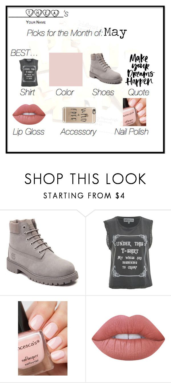 """""""May"""" by amber2727 on Polyvore featuring Timberland, Wildfox, Lime Crime, Casetify and may"""