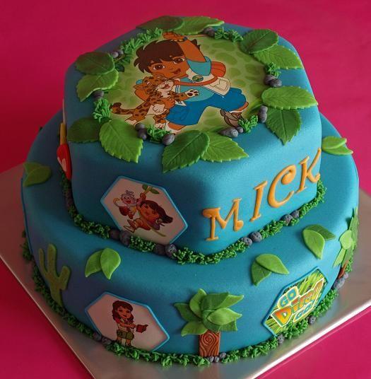 diego taart Diego taart!   Cake decor : )   Pinterest   Cake diego taart