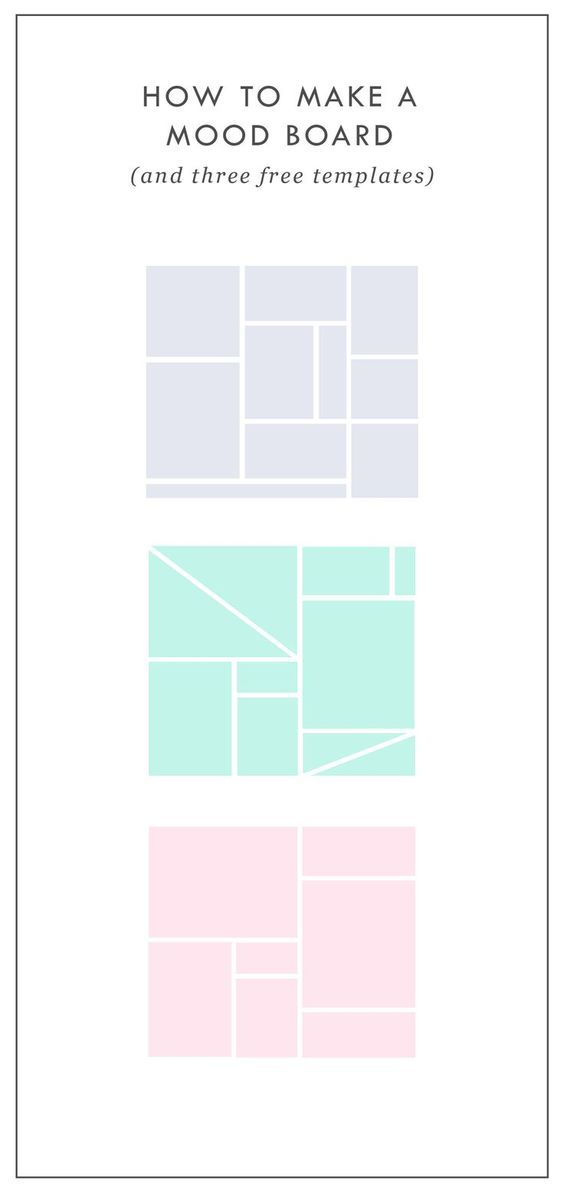 Free Mood Board Templates | Mood boards help align the aesthetic ...