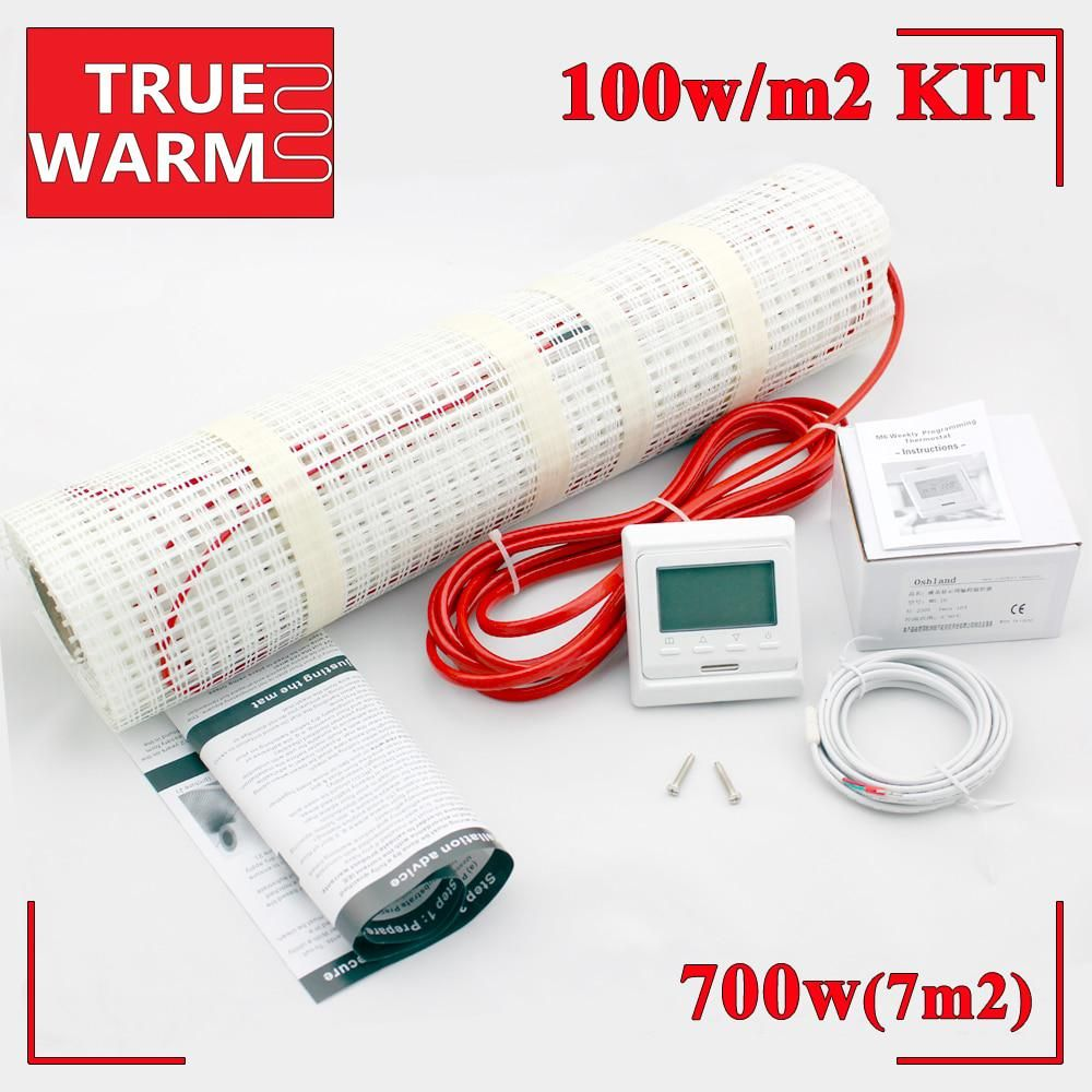 700w Electric Floor Heating System For Heated Warm Floors 230v 7sqm Wholesale T100 7 0 Floor Heating Systems Radiant Floor Heating Heated Floors