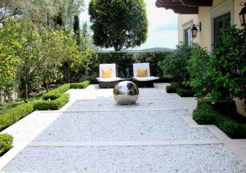 Decorar Exteriores Con Piedras Blancas 1 Jardin Con Piedras Decoraciones De Jardin Jardines