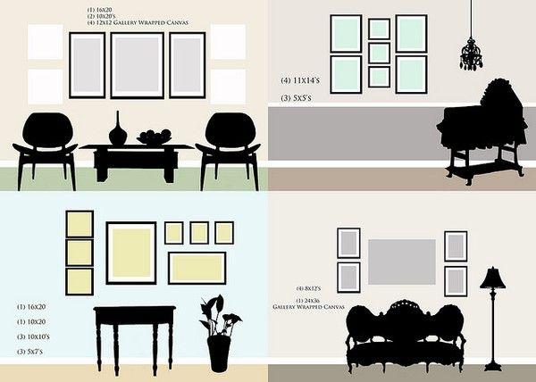 Frame arrangement   Home   Pinterest   Organizations, Photo wall ...