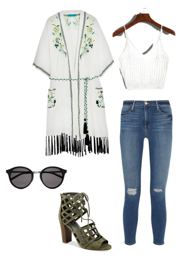 """""""#notsocasualfriday"""" by katieprice2121 on Polyvore featuring Matthew Williamson, Frame Denim, Yves Saint Laurent and G by Guess"""