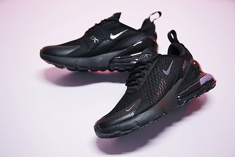 huge discount 3b734 8b7ec Nike Air Max 270 Triple Black AH8050 001 2018 Spring Summer Sport Shoes