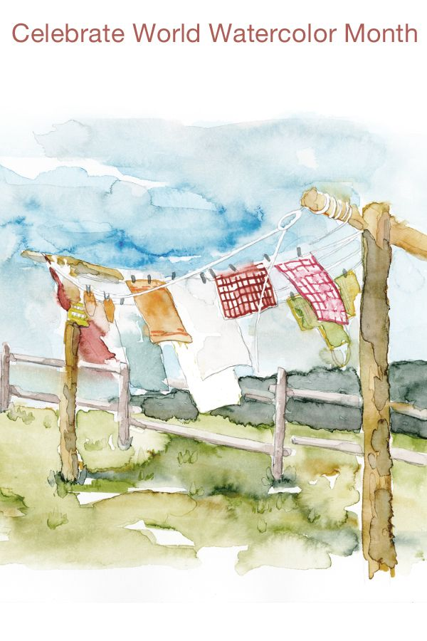 Celebrate World Watercolor Month Watercolor Watercolor Art Artwork