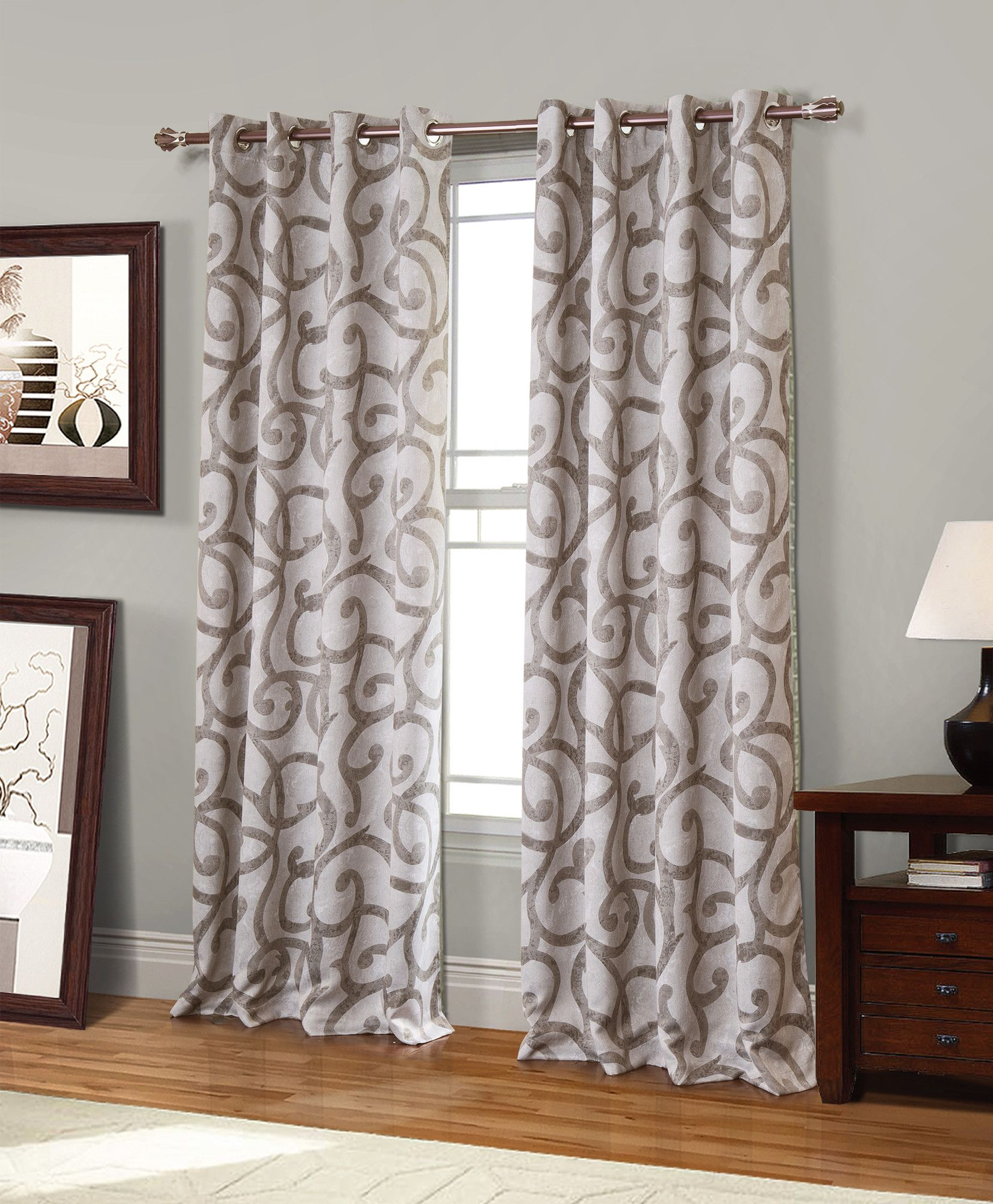 geometric blackout curtains patterned canton geometric blackout grommet single curtain panel pinterest