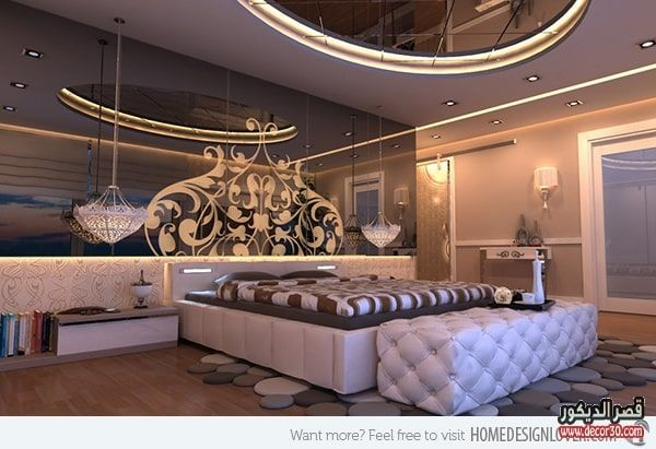 جبس امبورد شاشات حديث Ampour Gypsum Modern Screens 2018 قصر الديكور Glamourous Bedroom Luxurious Bedrooms Fancy Bedroom
