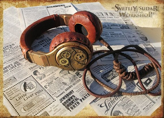 Hey, I found this really awesome Etsy listing at https://www.etsy.com/listing/227432206/steampunk-headphones-the-watchmaker