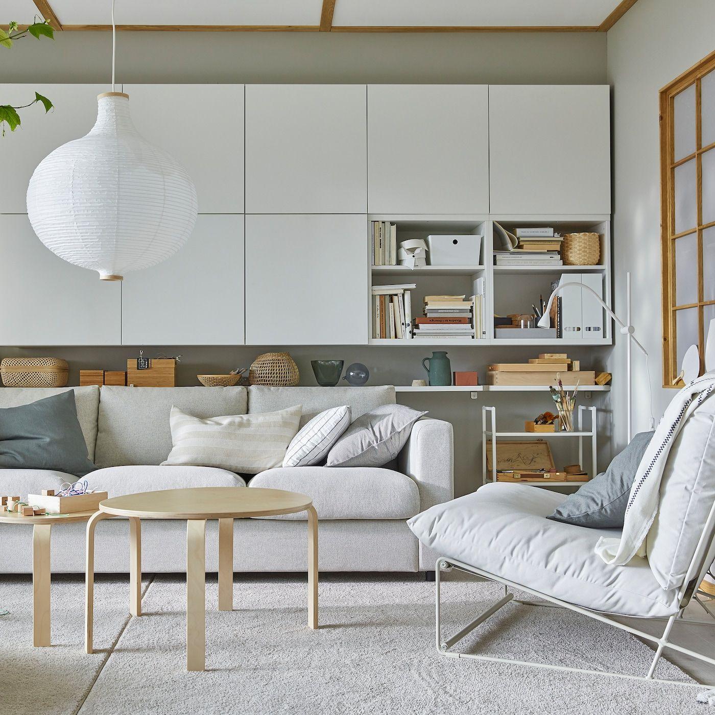un salon élégant et pratique  ikea living room ikea