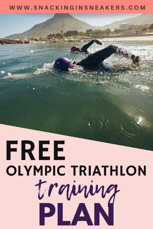 Interested in triathlon training?  Check out this post for a free Olympic triathlon training plan....