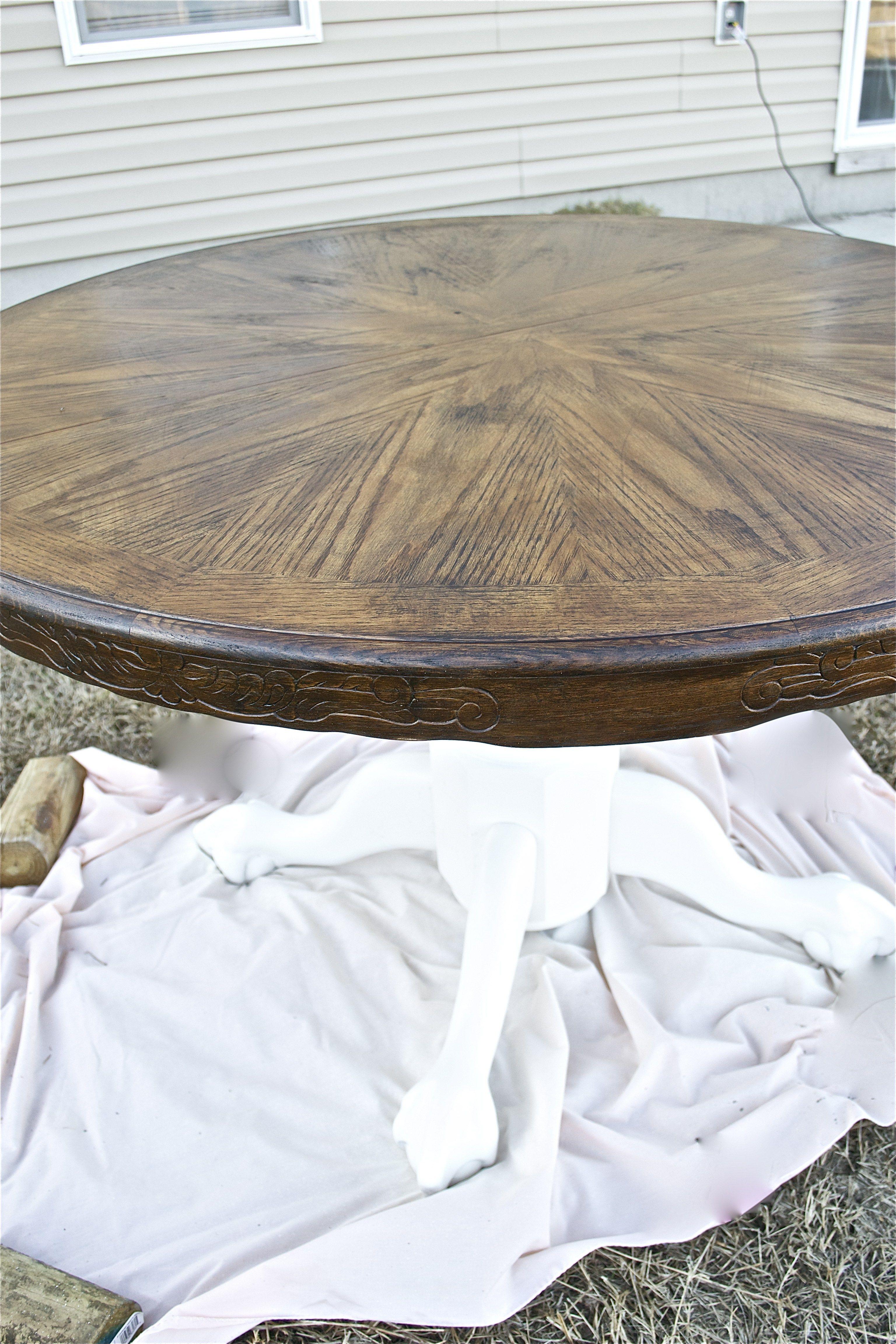wood stain  white kitchen table  white kitchen table