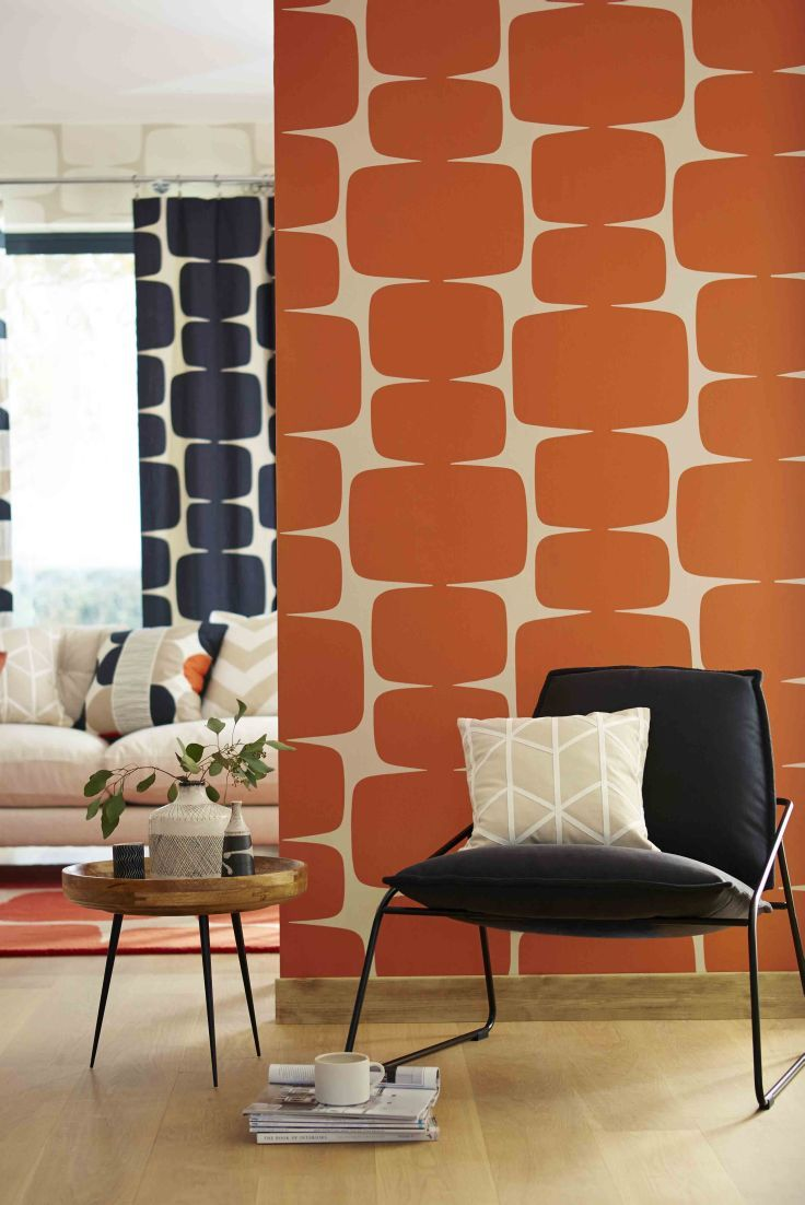 Stunning contemporary wallpaper design by Scion. For more