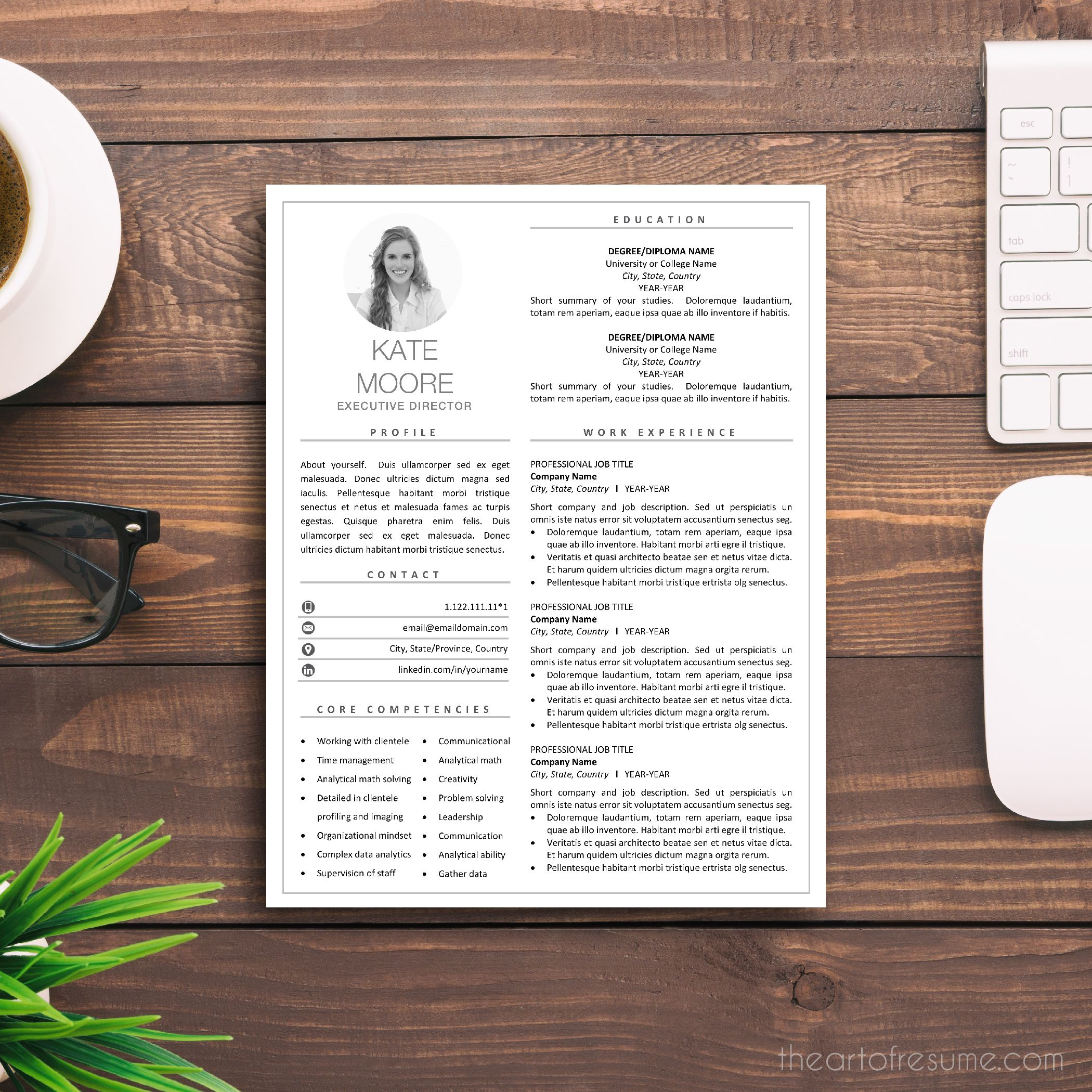 Creative resume cv template resume design with picture
