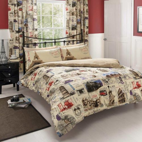 World post postcard mail map double duvet cover bedding set double world post postcard mail map double duvet cover bedding set gumiabroncs Image collections