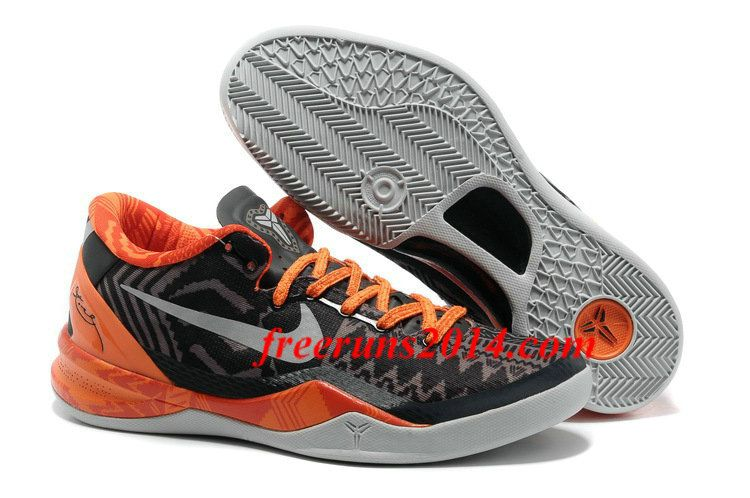 Nike Kobe 8 System Black History Month BHM Anthracite Pure Platinum Sport  Grey Total Orange Shoes