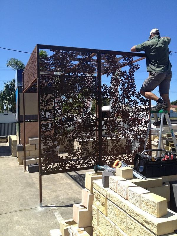 Fence Topper Steel Panels Adapted Into A Pergola Structure