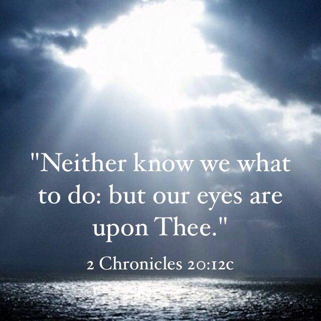 2 Chronicles 20:12 -