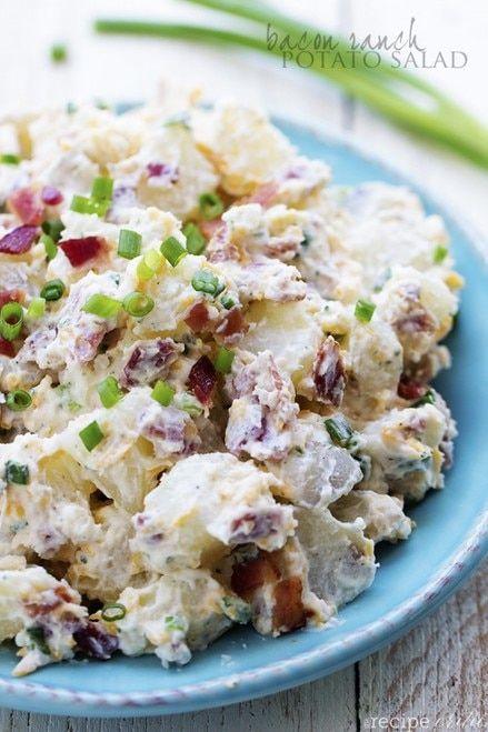 Bacon Potato Salad With Sweet Mustard Dressing Free Recipe Below Potatoe Salad Recipe Potato Salad Recipe Easy Ranch Potato Salad