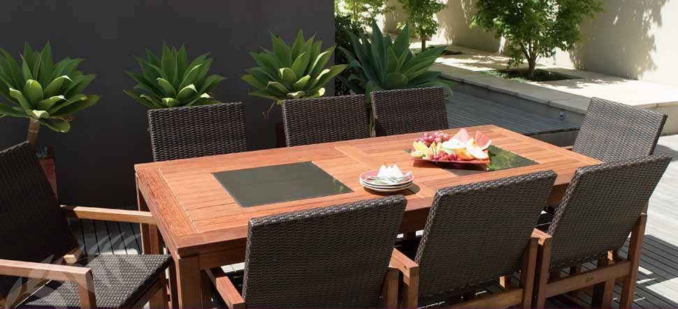 S2DIO - outdoor dining - love the wicker and kwila combo | S2DIO ...