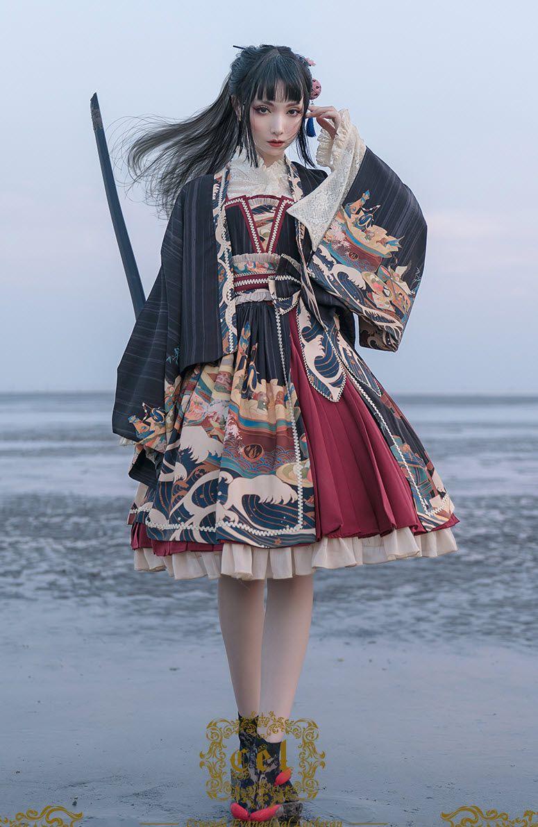 CEL Lolita -Kaiseki in Waves- Wa Lolita JSK Version I (Normal Waist)