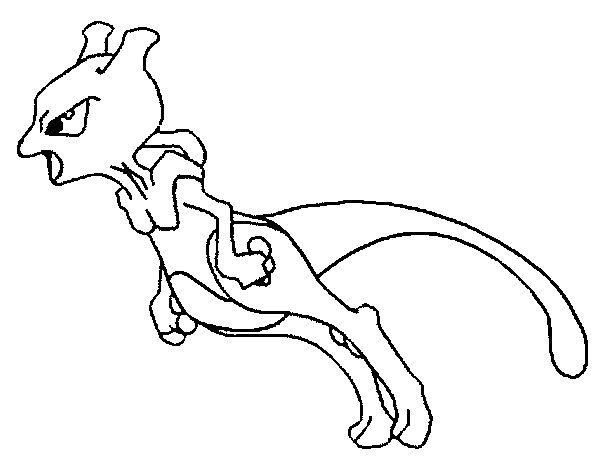 Dibujos para colorear Pokemon Mewtwo Dibujos Pokemon