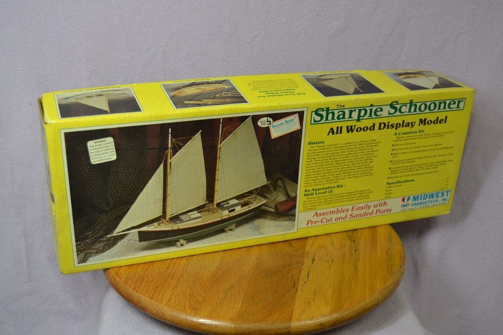 Midwest Products SHARPIE SCHOONER Wooden Model Kit  No  968