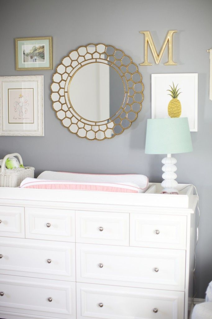 Ktdespain131 This Gray Gold And White Nursery Is So Beautiful We Could Add It Lavender Accents Too