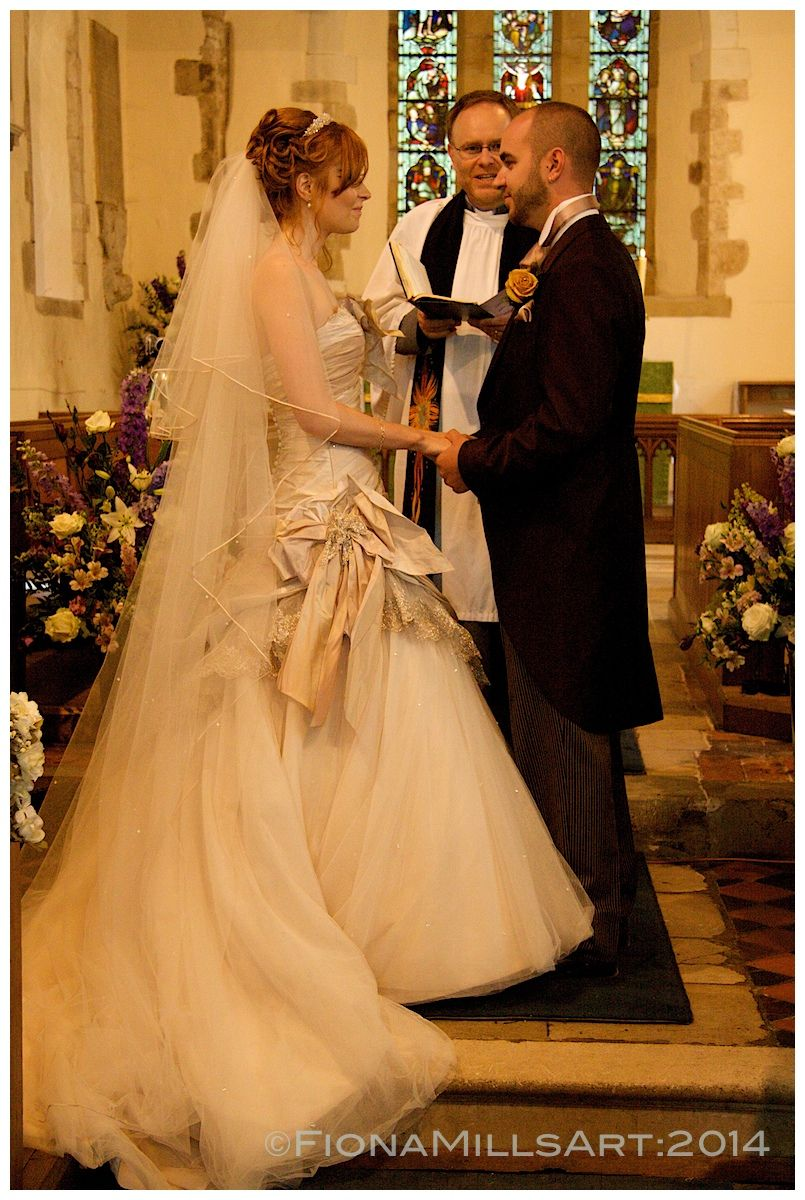 The Wedding Vows A Bride And Groom Take Their Marriage Traditional Church Of
