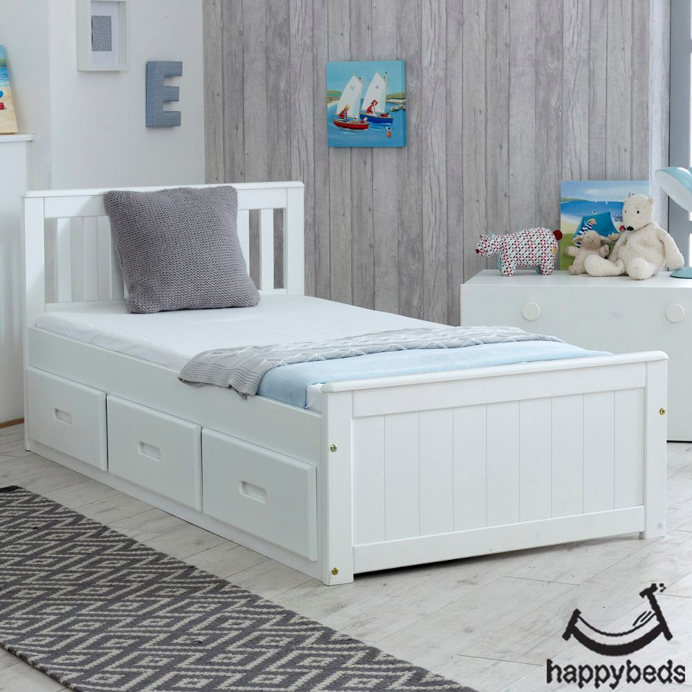 Mission White Wooden Storage Bed Single Beds With Storage Bed Frame With Storage Bed Storage
