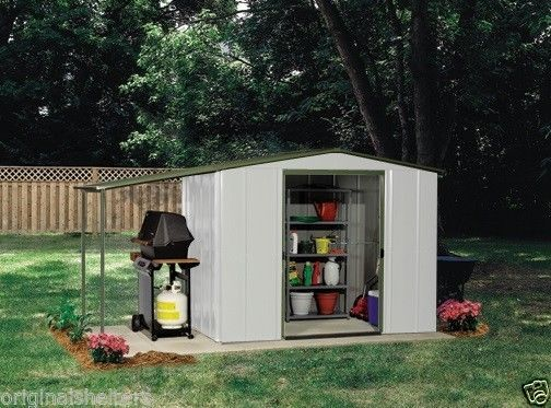 Arrow Metal Sheds:6u0027 X 5u0027 Storage With Canopy/ Small Backyard/