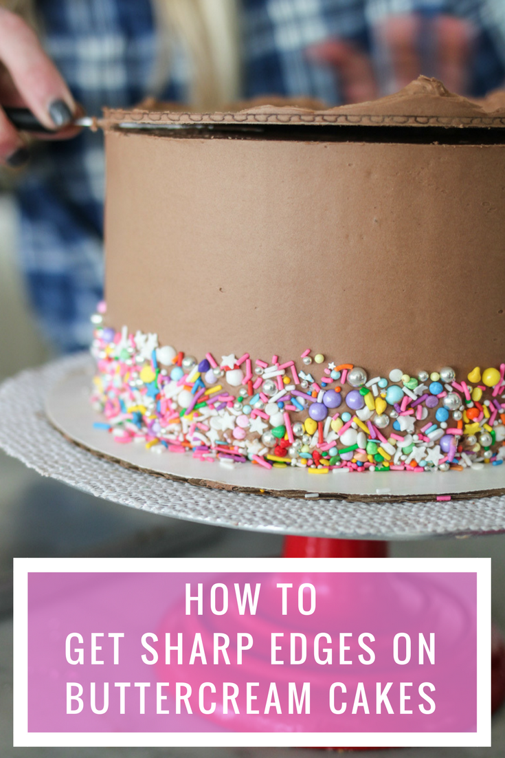 How To Get A Sharp Edge On Your Buttercream Frosted Cake Cake By Courtney Creative Cake Decorating Cake Decorating Cake Piping