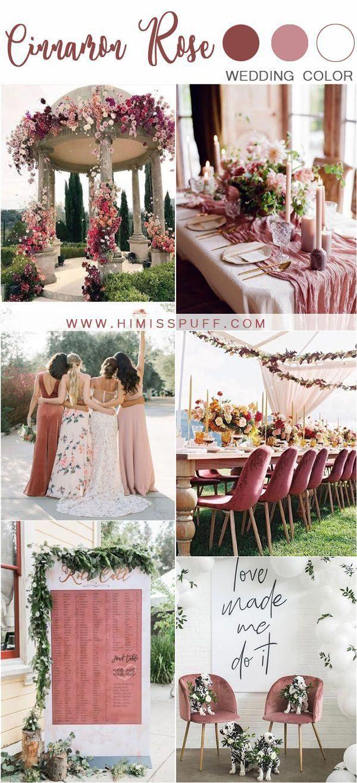 cinnamon rose dusty rose wedding color ideas #wedding #weddings #weddingideas #weddingcolors # ...