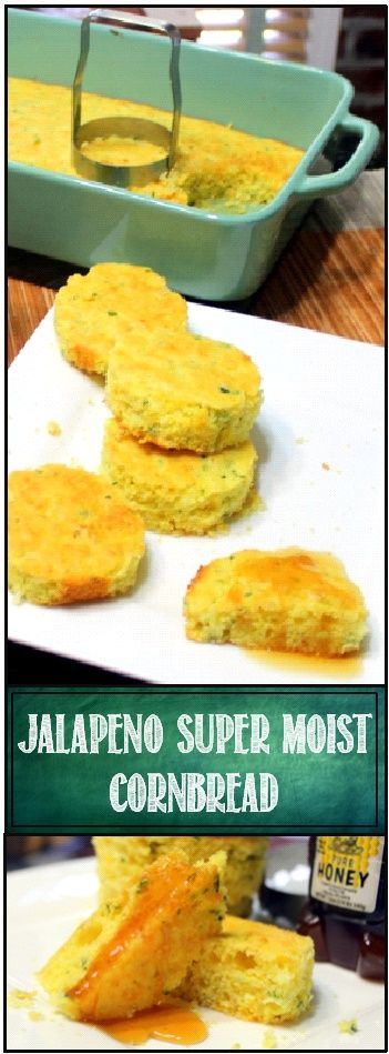 "Jalapeno CornBread - SECRET INGREDIENT Super-Moist Jiffy Mix Upgrade...  This recipe uses ""America's Favorite"" CornBread mix but we do a major upgrade from the recipe on the box to make this a family favorite that pops up at a lot of get togethers, Chili feeds and potluck suppers!... THAT SECRET INGREDIENT GUARANTEES MOISTNESS!"