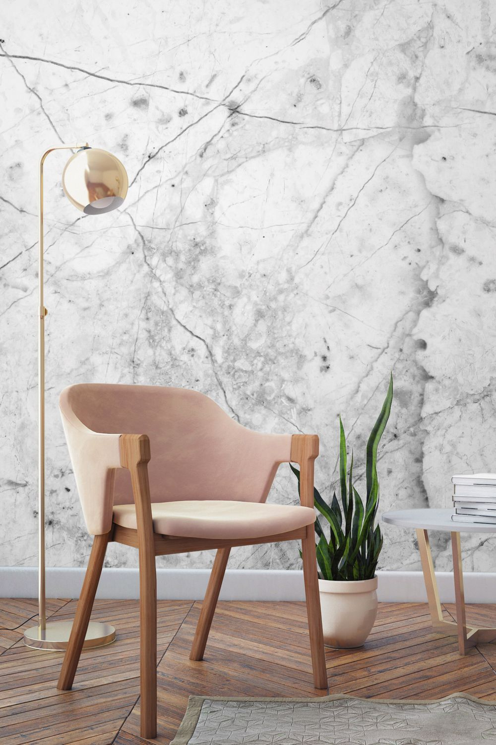 Dusty Pink, Marble And Copper   This Yearu0027s Hottest Combo. Recreate The  Look With This Beautiful Faux Marble Mural. This Timeless Design Echoes The  ...