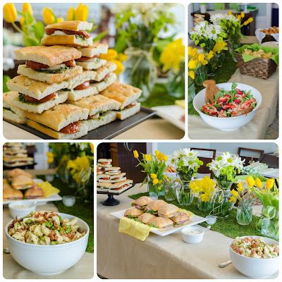 spring baptism lunch yellow and grey baptism party pinterest