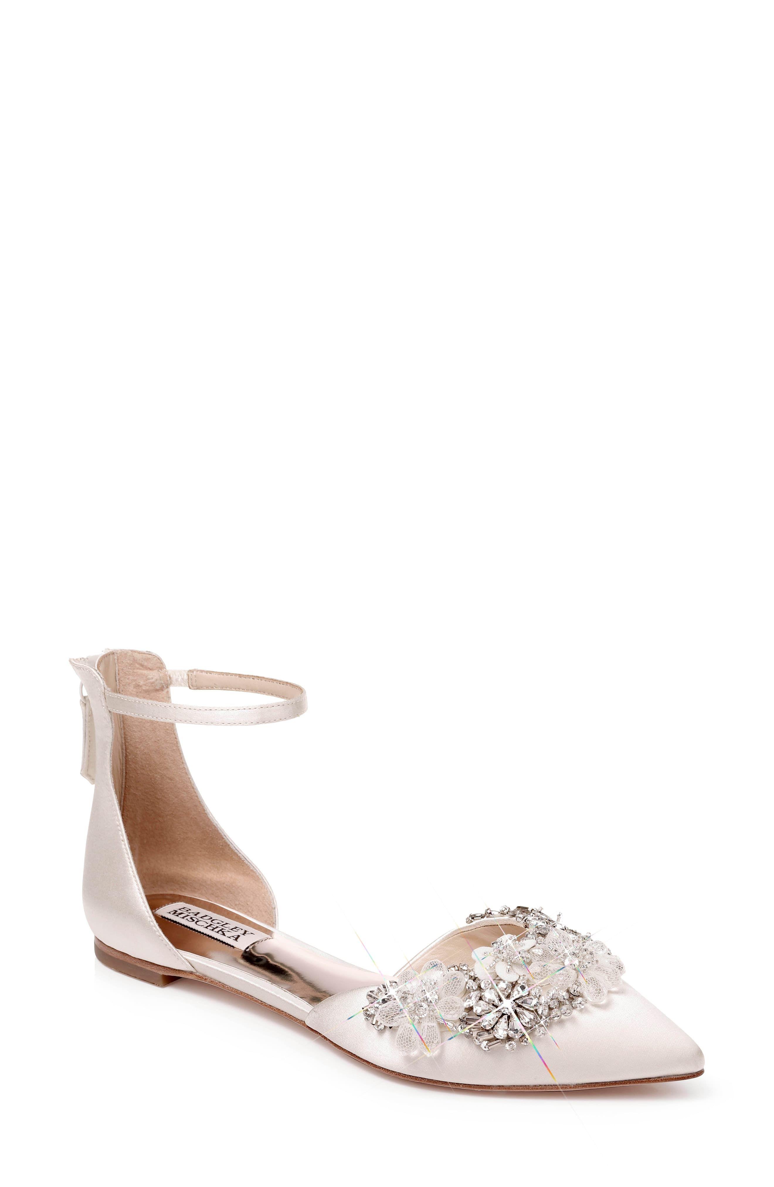 Bridal shoes, Ankle strap flats