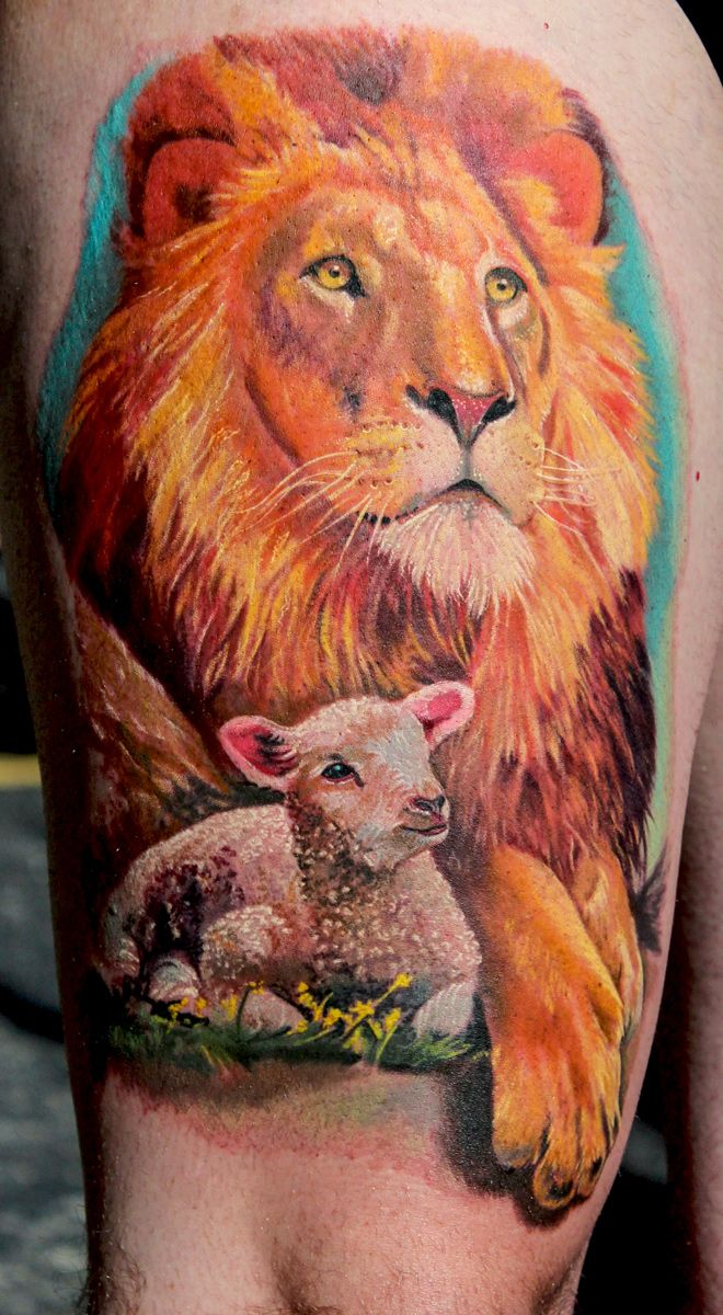 Lion-and-Lamb-by-Todo-ABT-Tattoo by TodoArtist.deviantart.com on ...