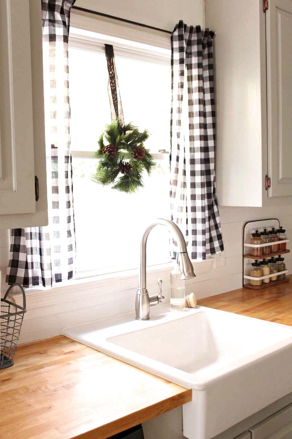 71 amazing farmhouse kitchen curtains decor ideas