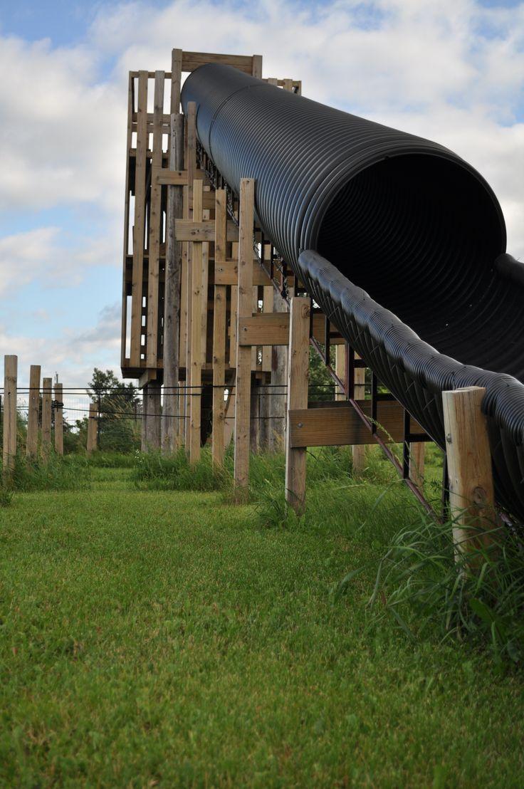 Homemade Tunnel Slide Backyard Playground Backyard Play Outdoor Playground