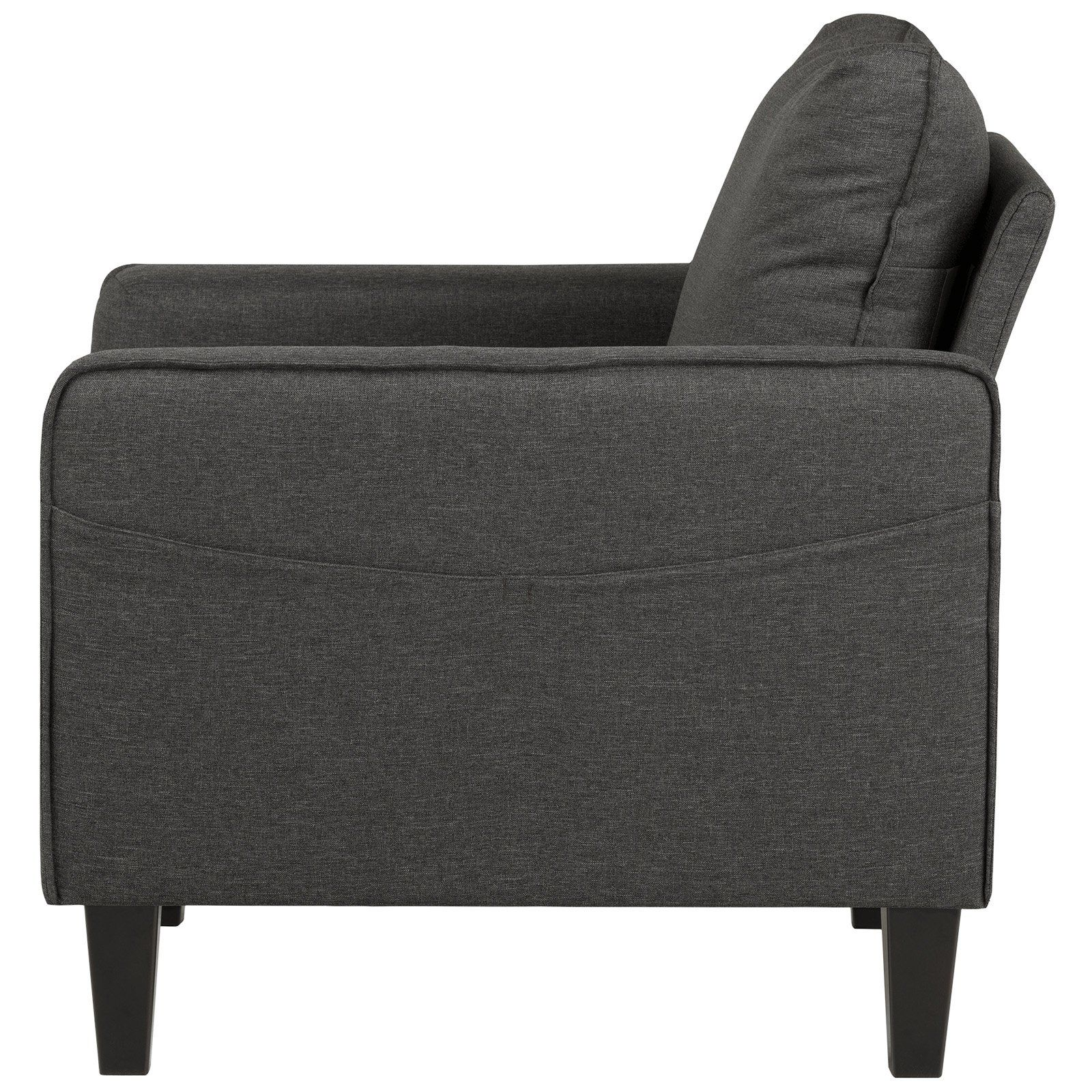 Adrian Charcoal Gray Accent Chair: Live-It Cozy Accent Chair By South Shore Charcoal Gray