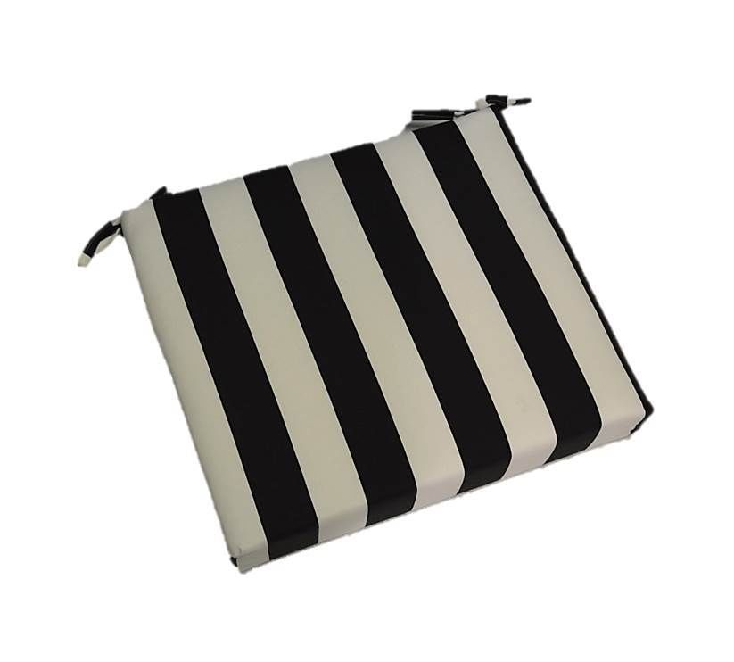 in outdoor black white stripe patio universal foam chair Black And White Striped Outdoor Seat Cushions id=53546